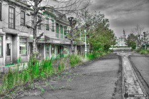 High-noon-abandoned-Main-Street-Nara-Dreamland-haikyo