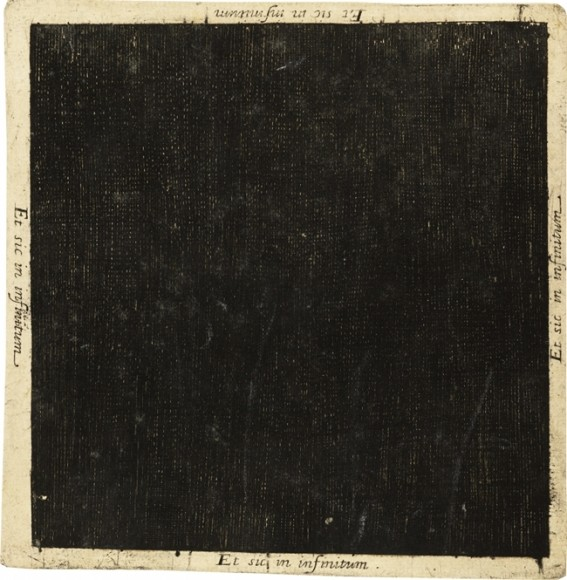 Robert Fludd's black square representing the nothingness that was prior to the universe, from his Utriusque Cosmi (1617) – Source: Wellcome Library.