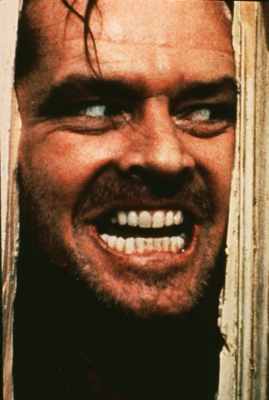 1993 file photo of Jack Nicholson in the movie THE SHINING (1980).