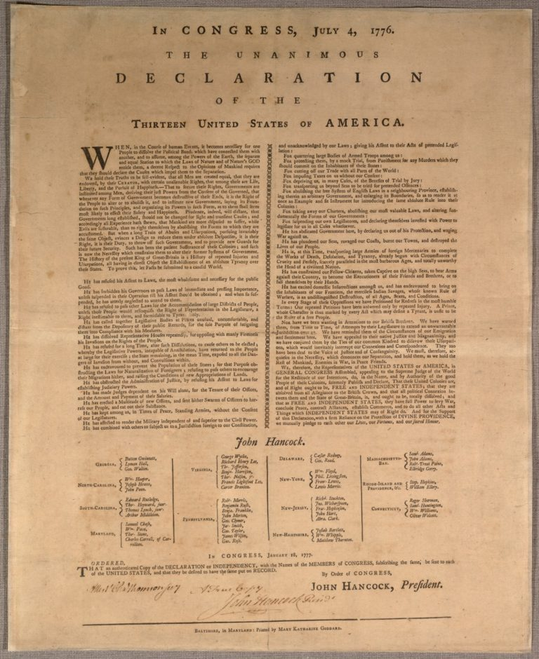 an introduction to the history of the declaration of independence in the united states